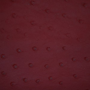 Ostrich Red | Exotic Automotive Upholstery Leather